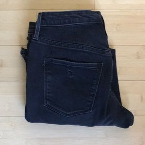 Black High Rise Ripped Skinny Jeans - Size 4